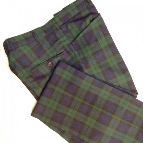 Sherrys Blackwatch Tartan Frogmouth Pocket Trouser