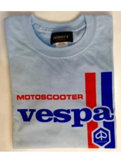 VESPA Motoscooter Racing Stripe SKY BLUE - Men's T-Shirt