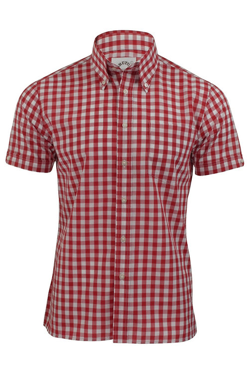 Brutus Trimfit Red Gingham Shirt
