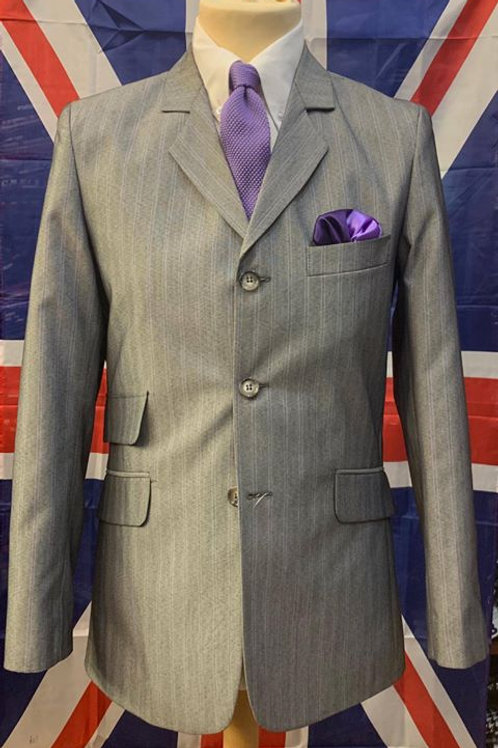 Sherry's Lilac Pinstripe Suit