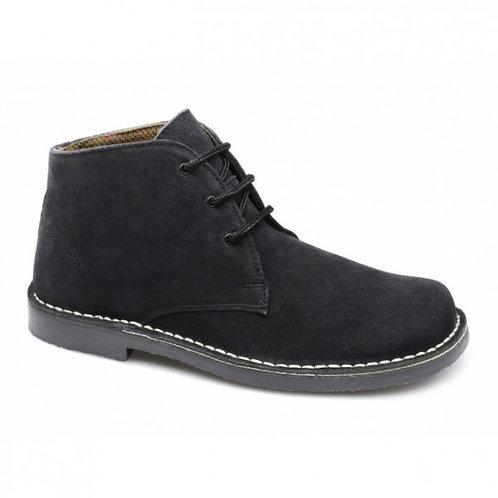 Roamers Black Suede Desert Boots