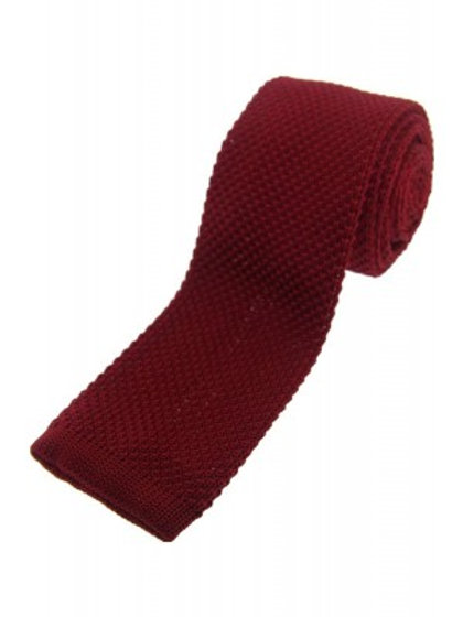 Burgundy Knitted Classic Tie