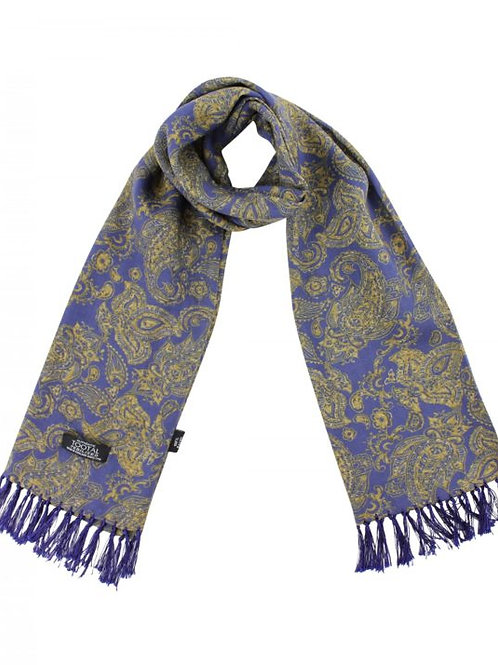 Tootal Vintage Navy Paisley Rayon Scarf