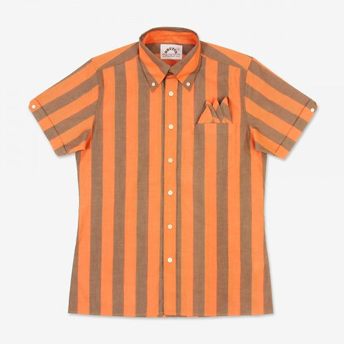 Brutus Orange/Cocoa Brown Stripe TrimFit