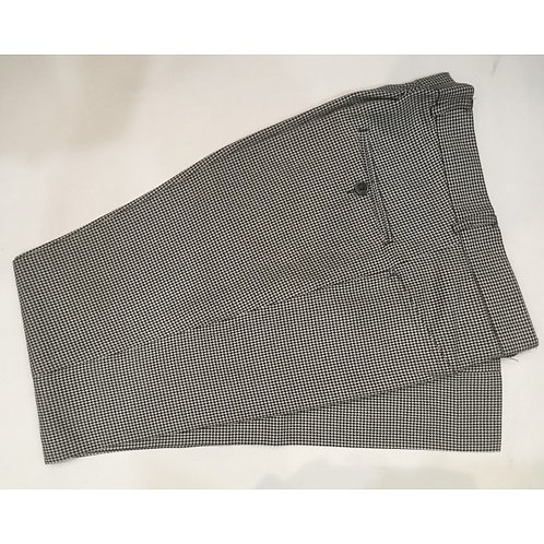 Dog Tooth Check Wool Tailored Trouser