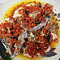 A43Steamed Fish Head With Diced Hot Red Peppers (Market Price)