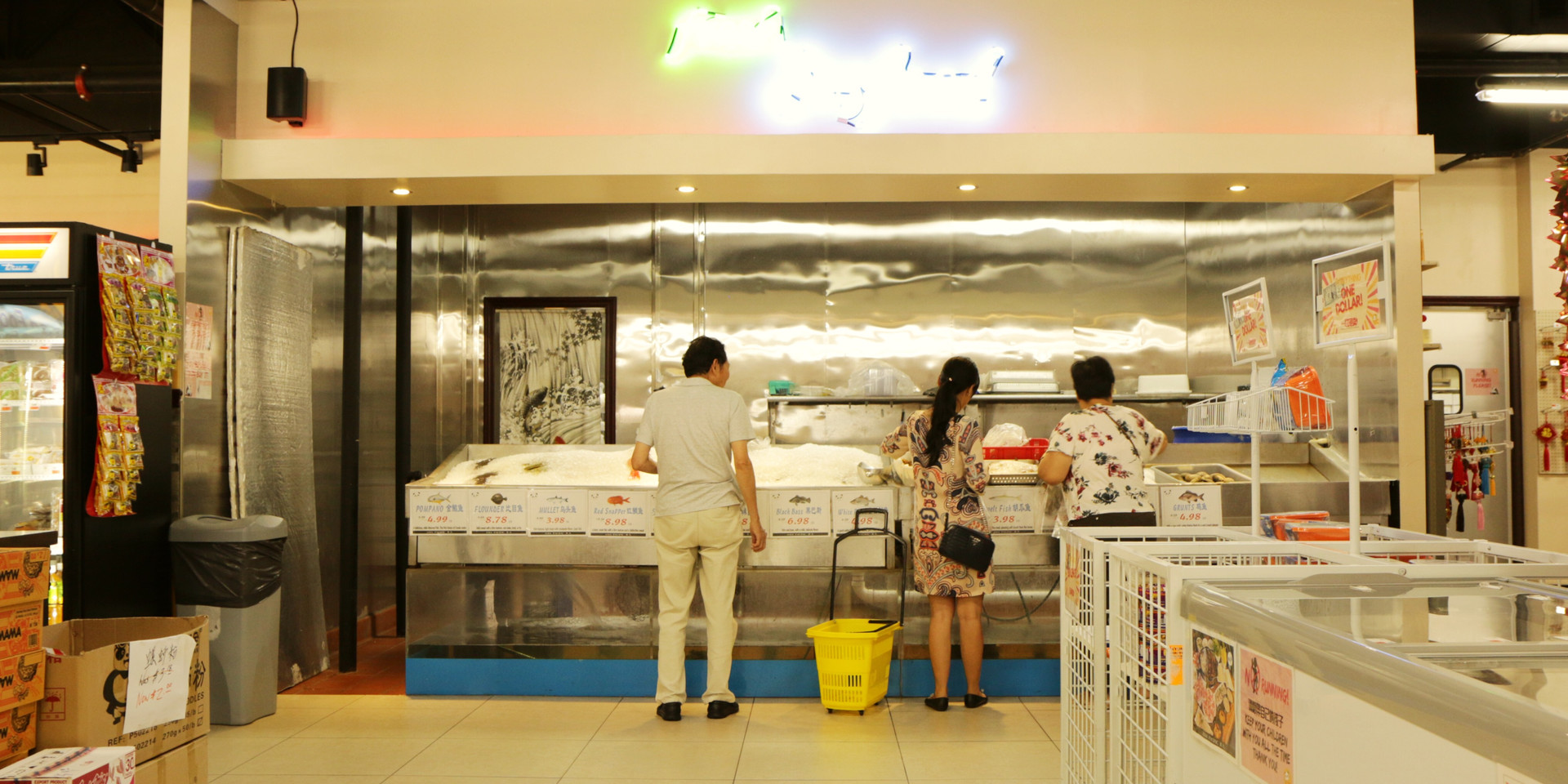 Asia Pacific Seafood Grocery Interior