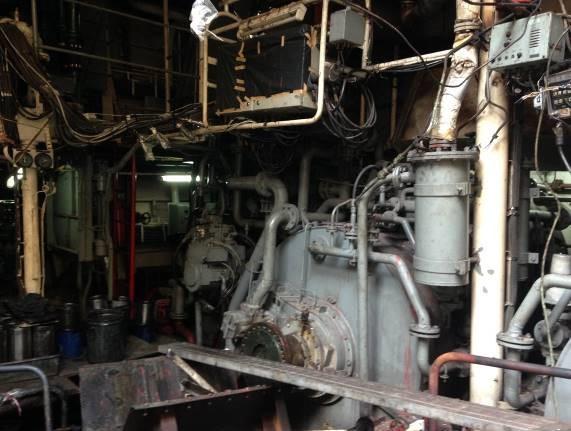 โครงการทำความสะอาดด้วยน้ำยาชีวภาพ และ ทำสีพื้นห้องเครื่องด้านใต้เครื่องยนต์ เรือหลวงบางปะกง  อู่ราชน