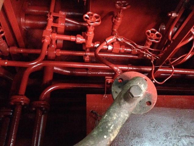 โครงการซ่อมทำสีท้องเรือภายใน บริเวณห้องเครื่องจักรใหญ่ หัว-ท้าย และห้องเครื่องจักรช่วย เรือหลวงเจ้าพ