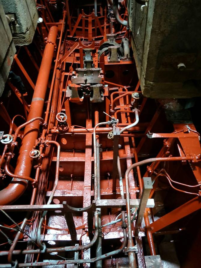 โครงการซ่อมทำสีภายในตัวเรือใต้แนวน้ำ    บริเวณห้องเครื่องจักใหญ่,ห้องเครื่องไฟฟ้า    และห้องหางเสือ