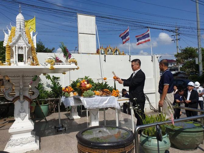 17 ต.ค. 62 นายสมชาย เมธวัฒน์ธรากุล รองอธิบดีกรมโยธาธิการและผังเมือง ให้เกียรติเป็นประธานในพิธีวางกระ