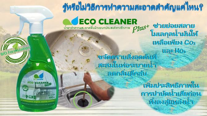 เปลี่ยนน้ำเสียเป็นน้ำใสไปกับ ECOMARINE 🌿 #Ecomarineproducts #Ecocleanerplus #ขยะครัวเรือน #รักษาแหล