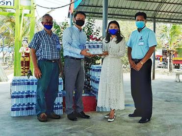 ASIMAR มอบเครื่องอุปโภคบริโภคให้ชาวชุมชนพระสมุทรเจดีย์ เป็นกำลังใจ สู้โควิด