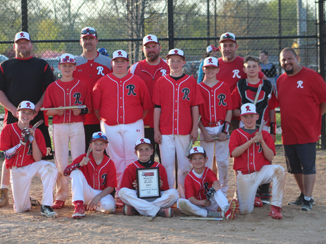 12U Reds - Monster of The Midway 2017 Champions
