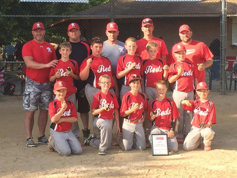 Northern Illinois Reds 11U Baseball Team took home the Silver Division Championship Trophy