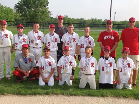 12U Reds (Red) finish runner up in the Game Day Monsters of the Midwest Tournament in Rockford, IL