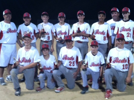 Reds 13U baseball team finished second in the UCOY Battle at Bridge Tournament