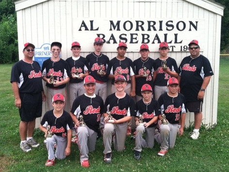 Northern IL Reds 13U team finished second in the 14U Al Morrison Memorial Baseball Woodstick Classic