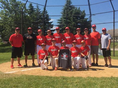 13U Reds - Black Team Runner Up in Wooden Bat Tournament
