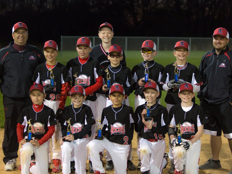 The Northern IL Reds 11U baseball team were division champions in the Kane County Bronco League