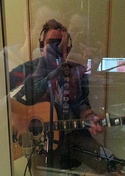 Musiker im Aufnahmeraum