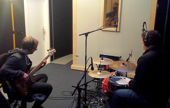 Musiker im Studio