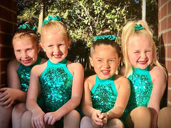 The girls did great twirling outside at