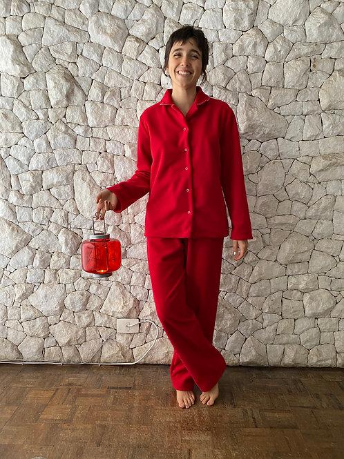 Pijama Microsoft Vermelho