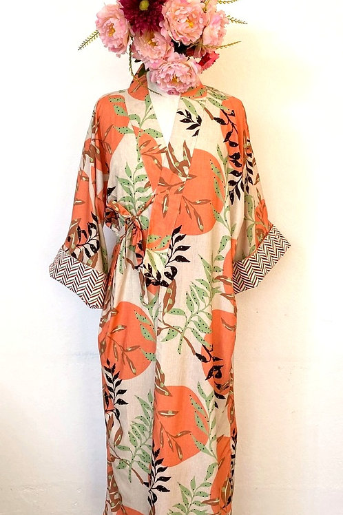 Kimono Tokyo longo Floral