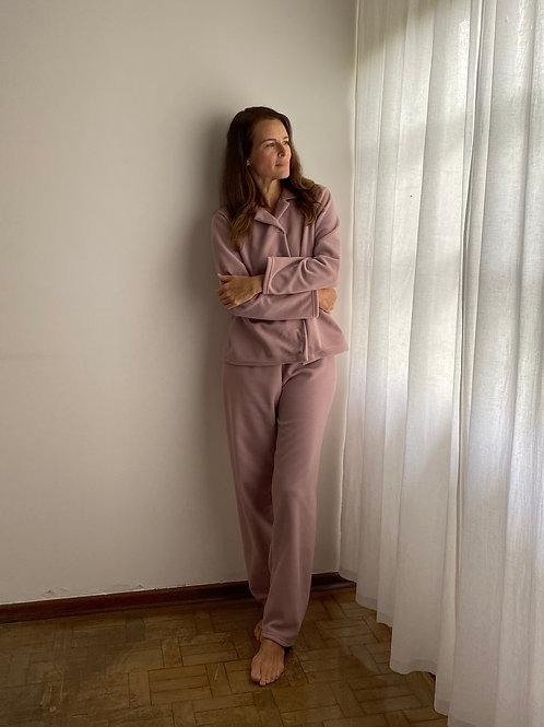Pijama Microsof Rosê