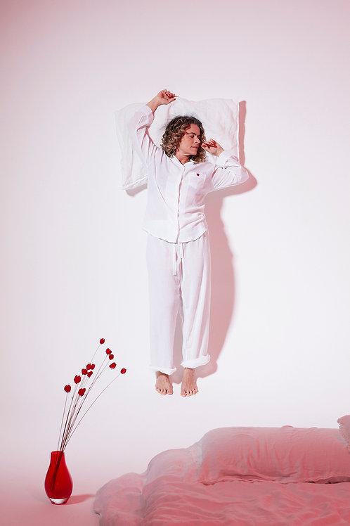 Pijama Zazá Branco namorados