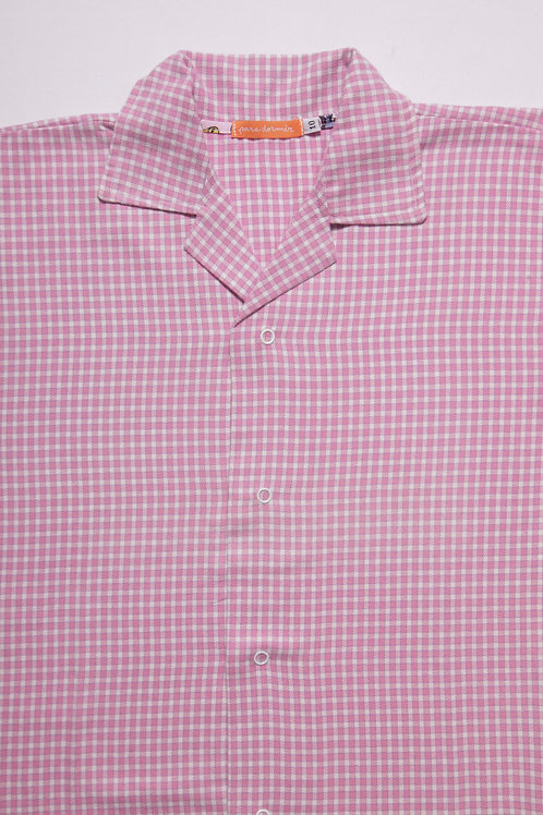 Pijama Infantil Flanela Xadrez Pink