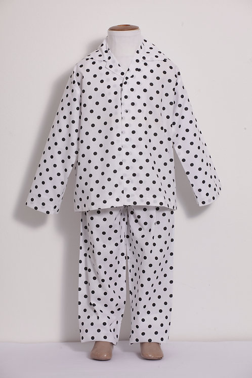 Pijama infantil Bolas Pretas