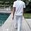 Thumbnail: Calça algodão  masculina Listrada Azul