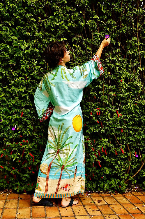Kimono Tokyo longo Praia