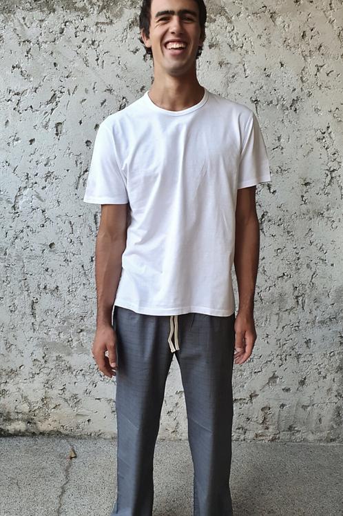 Calça algodão  masculina Cinza
