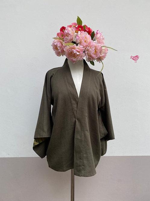 Kimono Kyoto curto linho Verde.
