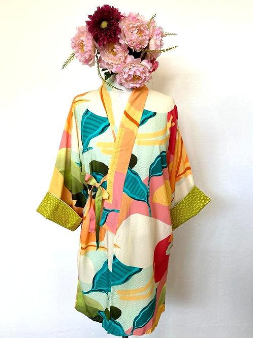 Kimono Tokyo médio colorido
