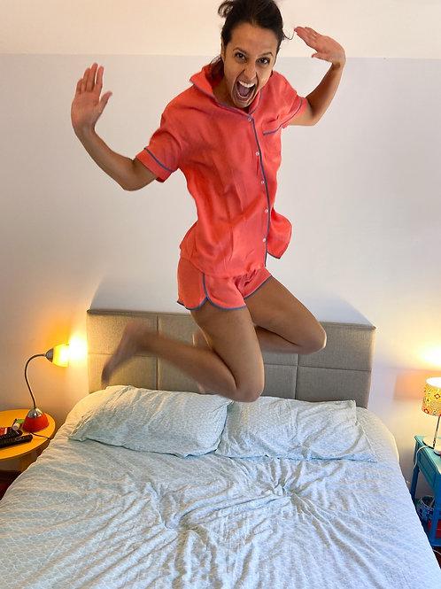 Pijama Zazá goiaba