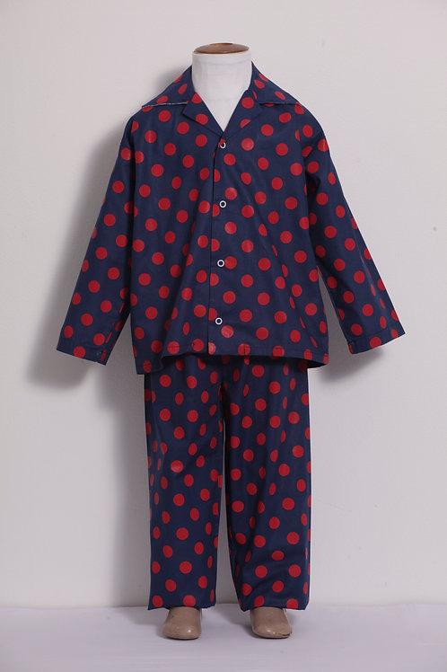 Pijama Infantil bolotas vermelha/marinho