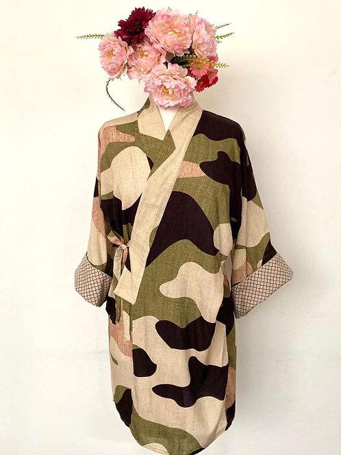 Kimono Tokyo médio verde camuflado