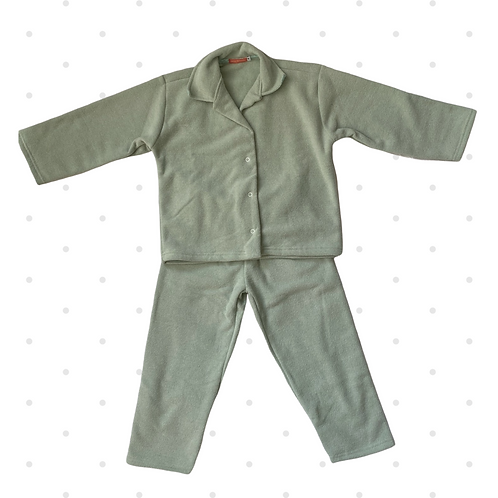 Pijama Infantil soft bouclê verde