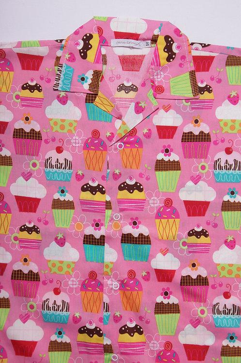 Pijama Infantil Cupcake Pink