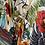 Thumbnail: Kimono Tokyo médio Arara Preta Fundo Off White