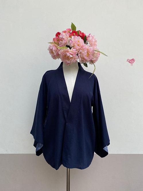 Kimono Kyoto curto linho Marinho.