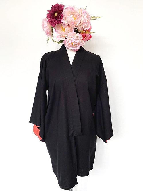 Kimono Kyoto médio manga coral