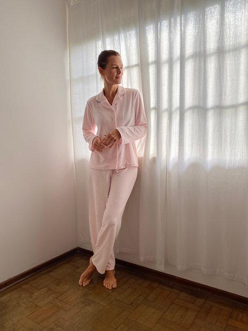 Pijama Plush Rosa Claro