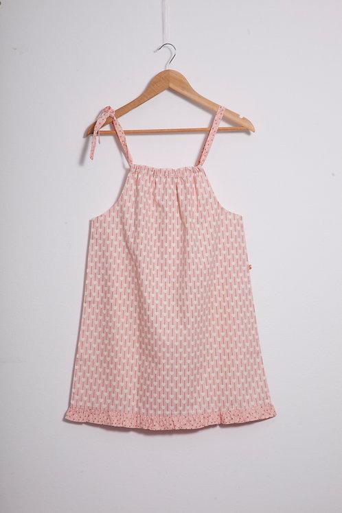 Camisolinha coração fundo rosa