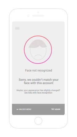 Face recognition failed