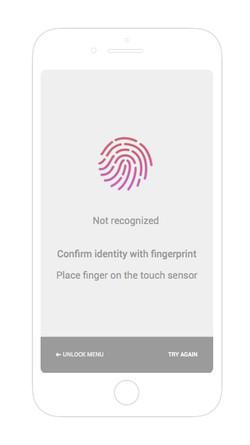 Fingerprint not recognised